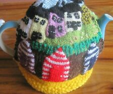 HAND KNITTED COASTAL COTTAGES TEA COSY. NORTH YORKSHIRE?
