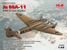 ICM 1/48 Junkers Ju-88A-11 WWII German Bomber # 48235