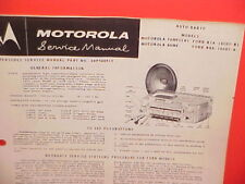 1957 1958 Ford Fairlane Skyliner Ranchero Motorola Am Radio Service Shop Manual