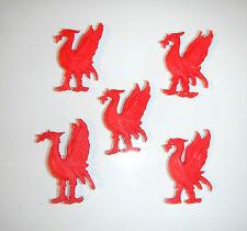 sfuso decorazioni della torta 5 x uccelli rossi liverbird Ideale per any