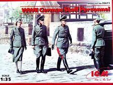 ICM Models 1:35 German Staff Personnel WWII Figures Model Kit
