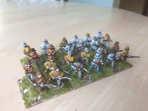 25/28 mm  (White Metal) ACW Confederate Infantry X 24