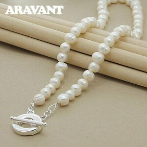 Freshwater Pearl Necklaces 925 Silver Necklaces Jewelry For Women Wedding
