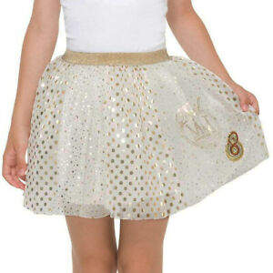 Desigual Girls Party Skirt White with Gold Dots & Stars 7-8 years
