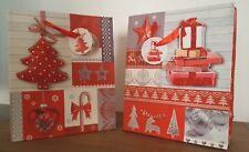 buste regalo di Natale rosse shoppers natalizie christmas albero regali