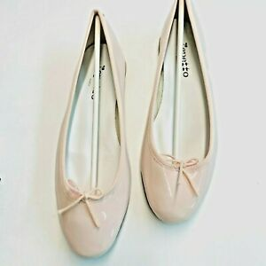 Repetto Pink Cendrillon Patent Leather Ballerina Flat 40.5 9.5 MSRP $325 NEW