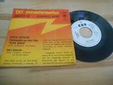 "7"" Pop Galaxy 42 / Dynamite Band - Star Wars Disco Version CBS Promo Blitz-Info"