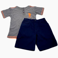 New US Polo ASSN Little Boys 2 Piece T-Shirt And Shorts Set Size 4T Outfit