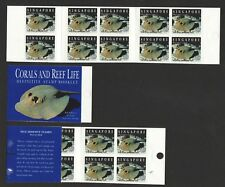 SINGAPORE 1994 CORALS & REEF LIFE STRINGRAY BOOKLET OF 10 SELF ADHESIVE STAMPS