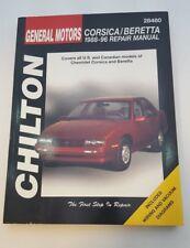 1988-96 Chevy Corsica / Beretta, Chilton Books Repair Manual 28480
