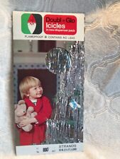 Vintage Lead FREE icicle Christmas Tinsel in New Dispenser Pack,  Doubl Glo ,800