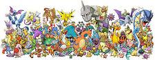 "New Pikachu - Japanese Anime Pokemon Cute Art Game 34""x14"" Poster"