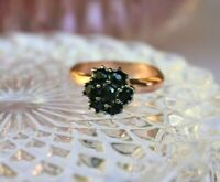 Bague marguerite ajustable Saphirs argent or rose Style ancien NEUF Ring