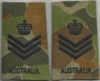 DPCU Army Australia Rank Slides SSGT X2