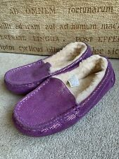 UGG AUSTRALIA PURPLE SLIPPERS SIZE UK 2 IN GREAT CONDITION