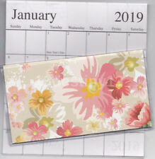 1 - 2018-2019 FLORAL 2 Two Year Planner Monthly Pocket Calendar Datebook