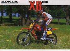1985 HONDA XR100RF 2 page Motorcycle Brochure NOS