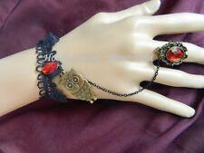 Gothic Lolita Steampunk Twilight Owl Slave Bracelet