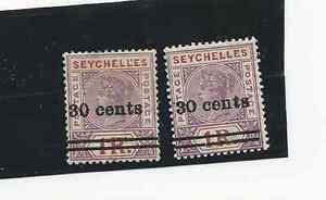 SEYCHELLES 1902 SCOTT 35 MNH & 35A NARROW 0 MLH VG CONDITION  FREE USA SHIPPING