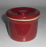 Zanesville Stoneware Pottery Red Cheese Jar! MINT