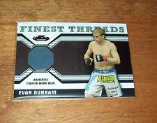 2011 Topps Finest UFC Evan Dunham Worn Fighter Gear  Relic Swatch Card
