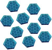 LITKO Space Shield Tokens, Fluorescent Blue (10)
