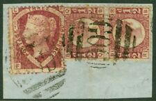 EDW1949SELL : GREAT BRITAIN 1870-79 Used in Beirut. Pair of ½ pence & 1½ pence.