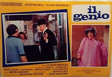 fotobusta lobby card IL GENIO Le grand escogriffe Claude Pinoteau Yves Montand