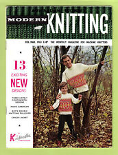 KNITMASTER KNITTING MACHINE PATTERN MAGAZINE ~ Feb/Mar 1963 ~ 13 Designs ~ VGC