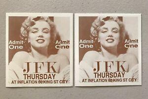 2 x Admit One JFK Marilyn Monroe Thursday at Inflation Nightclub 60 King St City