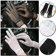 Women Summer Wedding Driving Mesh Lace Gloves Sunscreen Full Finger Short Gloves