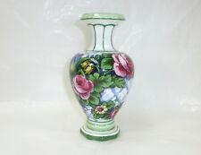 Seltene Vase Franz Anton Mehlem Bonn um 1900 signiert