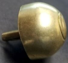 "13/16"" DOME BRASS BOTTOM STUD brief case glide split rivet antique box purse"
