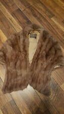 Vintage Natural Mink Stole Wrap Fur cape Nic Kuen St. Jo, Mo