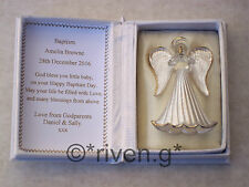 YOUR GUARDIAN ANGEL GLASS FIGURE@Floral Box@PERSONALISED BAPTISM Verse@KEEPSAKE