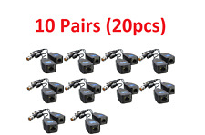 10 Pairs CCTV Coax BNC Connector Video Power Balun Transceiver to CAT5e 6 RJ45