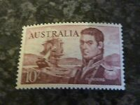 AUSTRALIA POSTAGE STAMP SG358 0R 358A BROWN/PURPLE 10/- VERY LIGHT-MOUNTED MINT