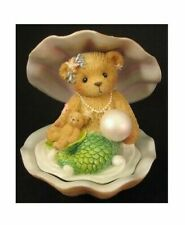 Enesco Cherished Teddies Mermaid in Shell With Pearl 2001 RARE Retired 865087