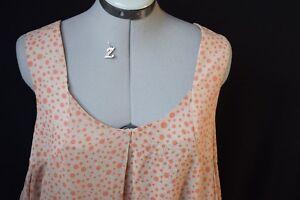 Myrine.Neuve! Superbe robe ample (idéal maternité) beige pois corail. S = 38 40