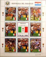 PARAGUAY 1989 Klb 4438 MS 2310 Fußball WM Italien 1990 Soccer Football World Cup