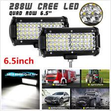 Pair 288W Quad Row CREE LED Work Light Bar Flood Spot Combo Car Offroad Fog Lamp