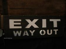 EXIT OUT METAL DISPLAY light up Cinema Theater Movie Home Wall Art Plaque Film