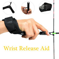 Archery Compound Bow Release - Adjustable Black Wrist Release Aid for Hunting