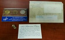 SINATRA OWNED Dodgers 1962 Admission Tokens/Coins & 1950's LAPEL PIN VERY RARE!