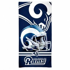 "LOS ANGELES RAMS SPECTRA BEACH TOWEL 30""X60"" COTTON PLUSH NFL LICENSED"