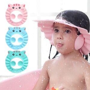 Baby Adjustable Shower Cap Hair Wash Hat Baby Children Kids Shampoo Shield Bath
