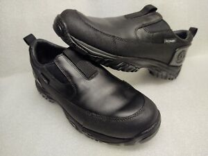 Timberland Tec Tuff black Leather/rubber Slip-on  Loafers Men's Size 8.Excellent