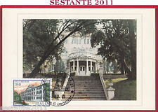 ITALIA MAXIMUM MAXI CARD VILLE D'ITALIA VILLA NECKER TRIESTE 1986 TORINO B652