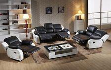 Voll-Leder Fernsehsessel Garnitur Relaxsessel Fernsehsofa 5129-3+2+1-SW