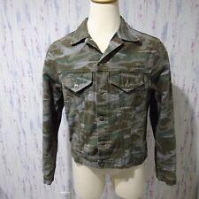 Corniche camouflage denim button jacket large